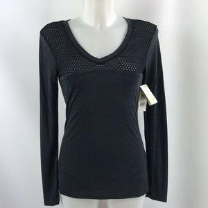 Trina Turk Grey & Black Athletic Top Size XS